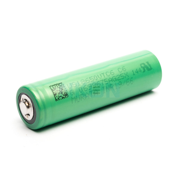 Sony / Murata US18650VTC6 3000mAh - 30A met button top