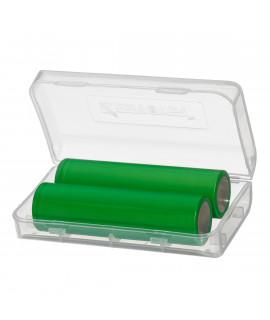 Keeppower 2x 18650 of 4x 18350 batterijendoosje