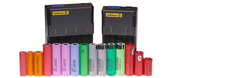 18650 batterijen en laders